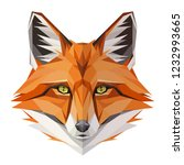 fox low poly design. triangle... | Shutterstock .eps vector #1232993665