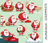 santa claus in traditional... | Shutterstock .eps vector #1232999275