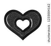 shiny black plastic heart with... | Shutterstock . vector #1233004162
