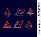 elegant triangle branding | Shutterstock .eps vector #1233012208