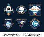 set of space theme vector... | Shutterstock .eps vector #1233019105