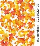maple leaves vector background  ... | Shutterstock .eps vector #1233022402