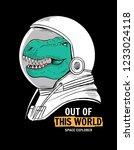 astronaut dinosaur vector...   Shutterstock .eps vector #1233024118