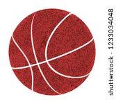 rough worn red metal basketball ...   Shutterstock . vector #1233034048