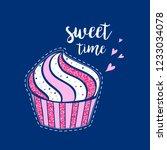 cupcake vector for girl t shirt ...   Shutterstock .eps vector #1233034078