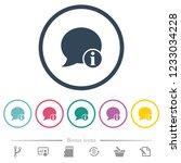 blog comment info flat color... | Shutterstock .eps vector #1233034228