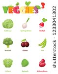 vector vegetables icon set.... | Shutterstock .eps vector #1233041302