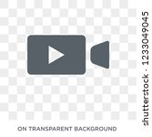 video recorder icon. video... | Shutterstock .eps vector #1233049045