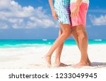 legs of young hugging couple on ... | Shutterstock . vector #1233049945