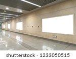 blank billboard in underground  ...   Shutterstock . vector #1233050515