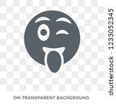 tongue emoji icon. tongue emoji ...   Shutterstock .eps vector #1233052345