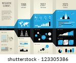 set elements of infographics | Shutterstock .eps vector #123305386