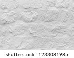 white stone wall texture.  | Shutterstock . vector #1233081985