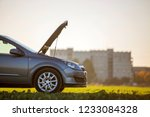 side view detail of car with... | Shutterstock . vector #1233084328