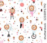hand drawn seamless pattern... | Shutterstock .eps vector #1233091792