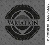 variation black emblem. vintage. | Shutterstock .eps vector #1233092392