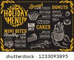 christmas menu template for... | Shutterstock .eps vector #1233093895