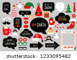 christmas photo booth props for ... | Shutterstock . vector #1233095482