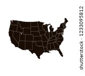 united states of america map.... | Shutterstock .eps vector #1233095812