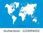 world map vector | Shutterstock .eps vector #1233096052