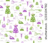 seamless pattern with clew ... | Shutterstock .eps vector #1233104782