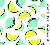 cute vector pattern with hand... | Shutterstock .eps vector #1233104905