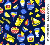 seamless vector pattern with... | Shutterstock .eps vector #1233104908