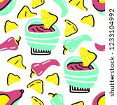 seamless vector pattern with... | Shutterstock .eps vector #1233104992