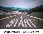 road to success concept  start... | Shutterstock . vector #1233105295