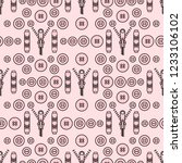 seamless pattern with zipper ... | Shutterstock .eps vector #1233106102