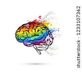 creative hemisphere of human... | Shutterstock . vector #1233107362