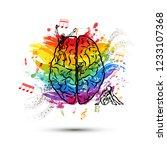 creative human brain in top... | Shutterstock . vector #1233107368