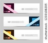 banner background. modern...   Shutterstock .eps vector #1233108205