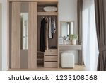 modern closet with clothes... | Shutterstock . vector #1233108568