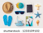 travel holiday vacation concept ... | Shutterstock . vector #1233109102