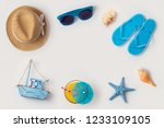 travel holiday vacation concept ... | Shutterstock . vector #1233109105