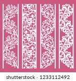 set of decorative lace borders. ... | Shutterstock .eps vector #1233112492