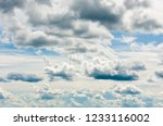 gray and white clouds in blue... | Shutterstock . vector #1233116002