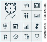 management icons set with idea... | Shutterstock .eps vector #1233123088