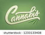 lettering cannabis for ads ... | Shutterstock .eps vector #1233133408