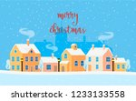 christmas card with winter... | Shutterstock .eps vector #1233133558