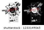 t shirt design vector printing... | Shutterstock .eps vector #1233149065