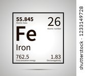 iron chemical element with... | Shutterstock . vector #1233149728
