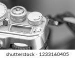 macro shot of a silver classic... | Shutterstock . vector #1233160405