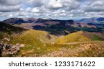 drak clouds moving over the... | Shutterstock . vector #1233171622