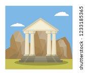 ancient greek building. temple... | Shutterstock .eps vector #1233185365