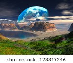 Hidden Cove On Distant Planet