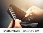 empty wallet  no money  in the... | Shutterstock . vector #1233197125
