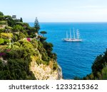 view of sailing ship off the... | Shutterstock . vector #1233215362