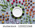 fresh organic vegetables with... | Shutterstock . vector #1233221368